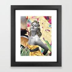 Golden Sophia Loren 2  By Zabu Stewart Framed Art Print