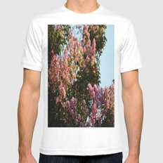 Blossoms Mens Fitted Tee White SMALL
