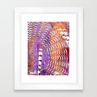 Purple and Orange Squiggle Print Framed Art Print