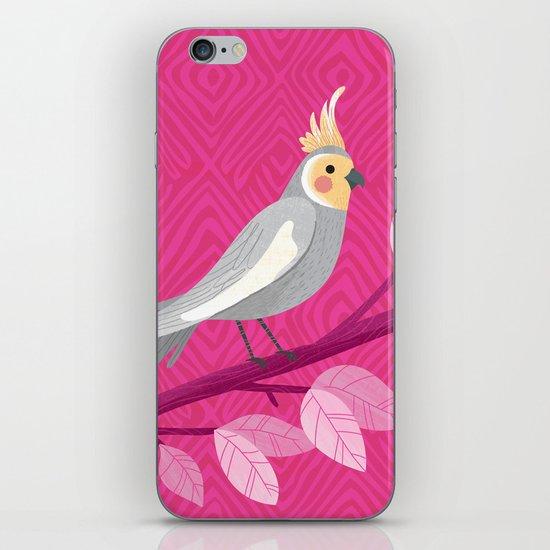 Bright Bird Portrait iPhone & iPod Skin