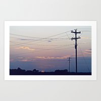 Wires Art Print