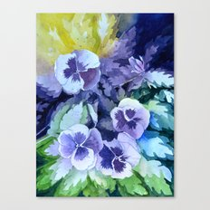 Pansies Crush  Canvas Print