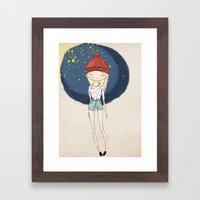Ange - Fashion Illustrat… Framed Art Print