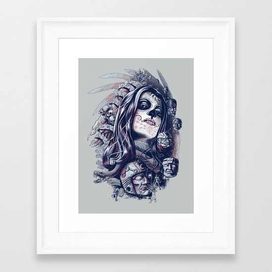 Coyolxauhqui Framed Art Print