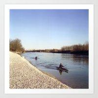 Ticino River Art Print