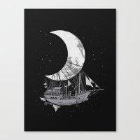 Moon Ship Canvas Print