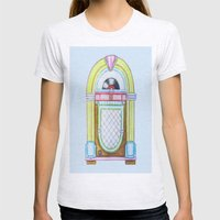 Jukebox Womens Fitted Tee Ash Grey SMALL