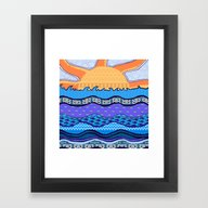 Sun On The Horizon Framed Art Print