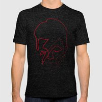 One Line Aladdin Sane Mens Fitted Tee Tri-Black SMALL