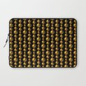 Bead Pattern, Gold & Black Laptop Sleeve