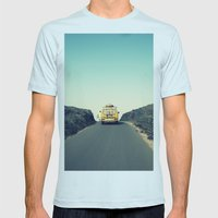 Bye Bye! Mens Fitted Tee Light Blue SMALL