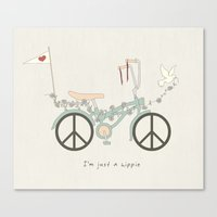 Peace & Love (Text Versi… Canvas Print
