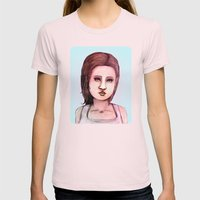 The Mall Womens Fitted Tee Light Pink SMALL