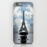 iPhone & iPod Case featuring Paris in a Bulb by liberthine01