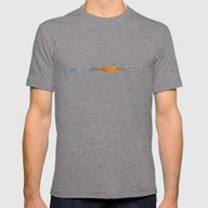 Istanbul City Skyline Hq… Mens Fitted Tee Tri-Grey SMALL