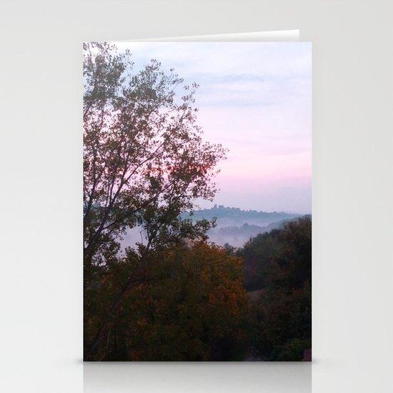 Mist of Dawn Stationery Card
