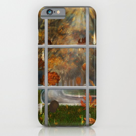 One Rainy Day In The Fall - Painting iPhone & iPod Case