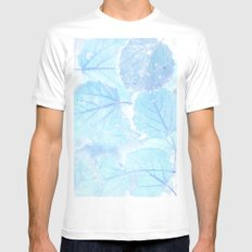 Blue autumn leaves SMALL Mens Fitted Tee White