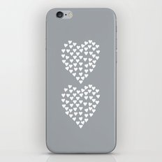 Hearts Heart x2 Grey iPhone & iPod Skin