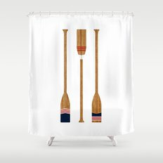American Painted Oars Shower Curtain