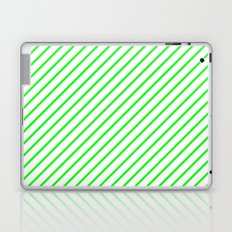 Diagonal Lines (Green/White) Laptop & iPad Skin