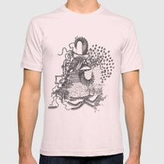 Heart Mens Fitted Tee Light Pink SMALL