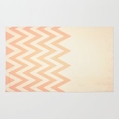 Orange Textured Chevron Rug