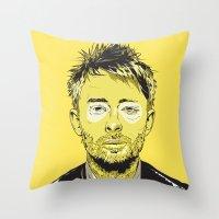 Thom Yorke Throw Pillow