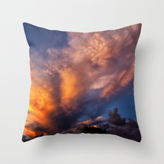 Winged Sunset Throw Pillow