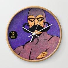 phantom moustache Wall Clock