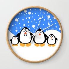 NGWINI - penguin family v3 Wall Clock