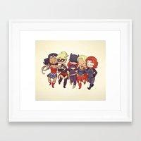 Super BFFs Framed Art Print