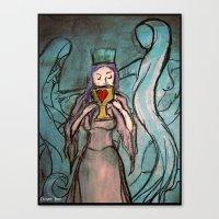 Queen Of Cups Canvas Print