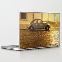 vw Laptop & iPad Skins featuring VW Beetle by Maria Heyens