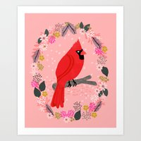 Northern Cardinal By And… Art Print