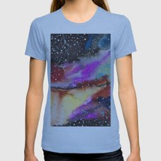 Space according to me  Womens Fitted Tee Athletic Blue SMALL