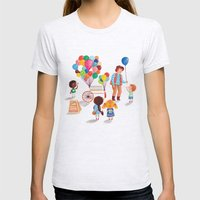 Balloon Stand Womens Fitted Tee Ash Grey SMALL