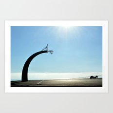 Basketball Plateau  Art Print