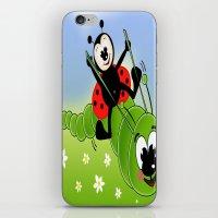 Ladybug And Caterpillar iPhone & iPod Skin