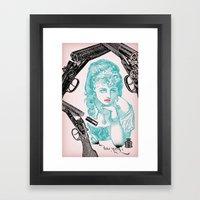 Dainty/Deadly Framed Art Print