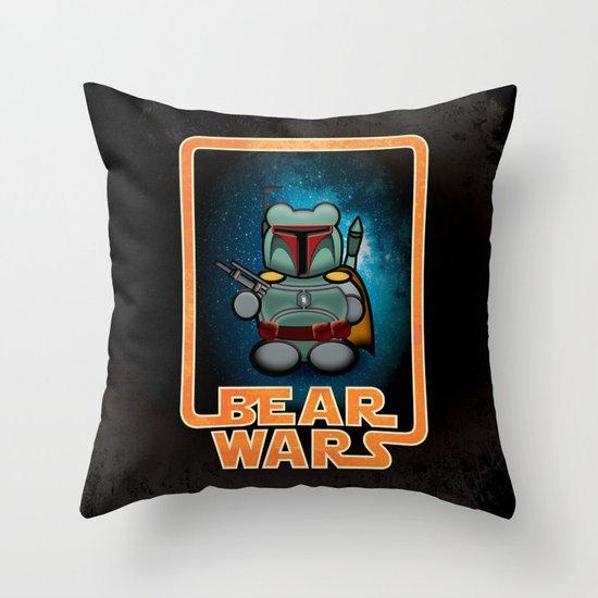 Bear Wars - Bobba Furry Throw Pillow