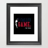 I-Called-GAME Framed Art Print
