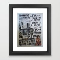MORE NEWS Framed Art Print
