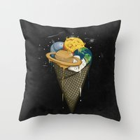Galactic Ice Cream Throw Pillow