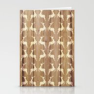Christmas Pattern On Woo… Stationery Cards