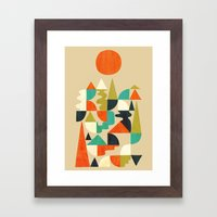 Mountains Hills and Rivers Framed Art Print