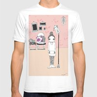Room Mens Fitted Tee White SMALL