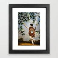 Framed Art Print featuring The Girl That Never Left… by Paula Belle Flores