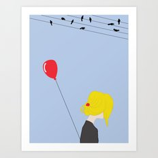 happiness in misery Art Print