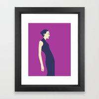 Celandine Purple Framed Art Print